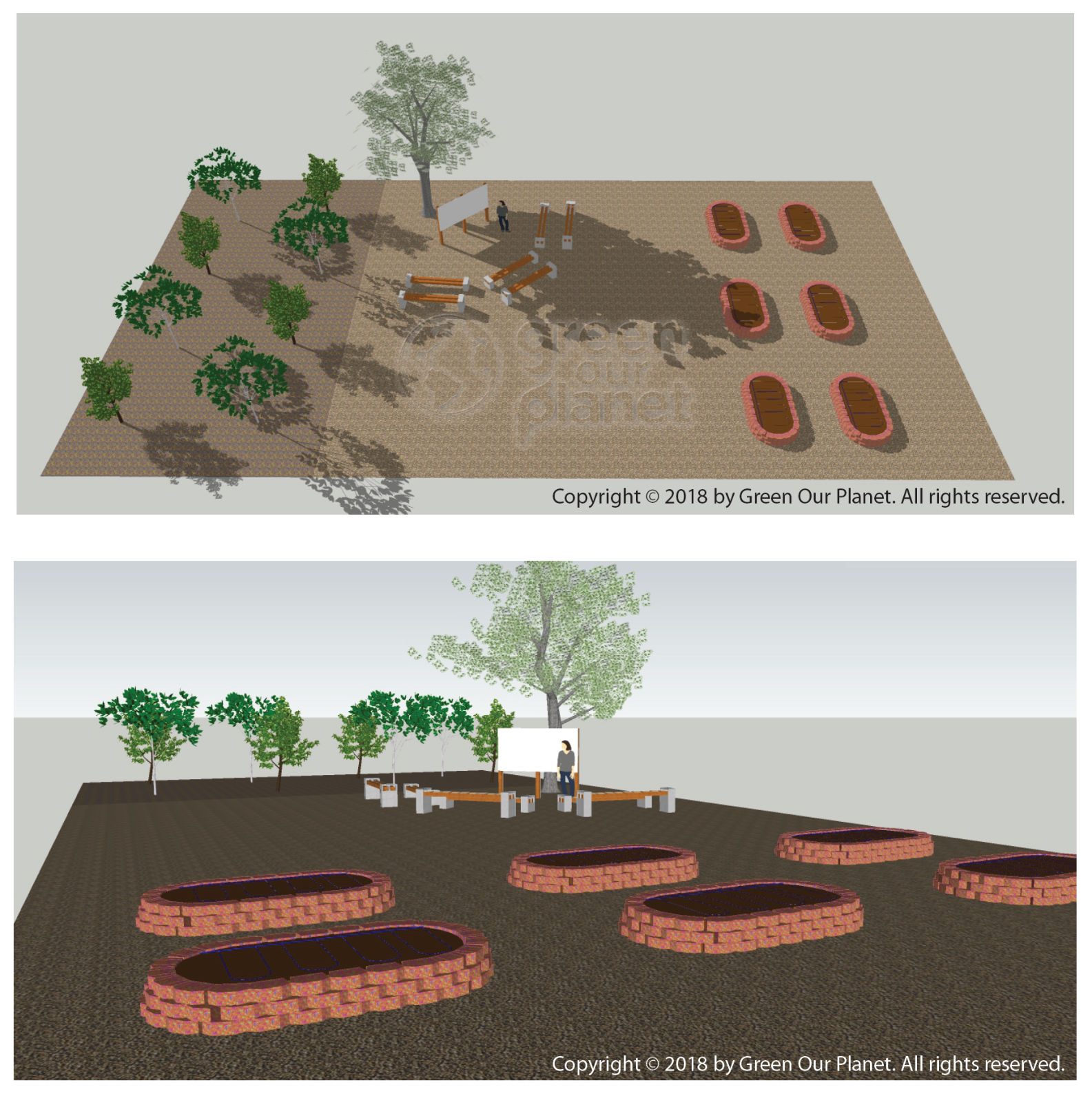 images of a garden model