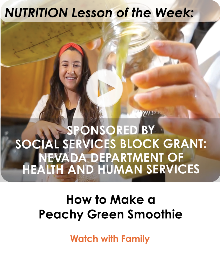 How to Make A Peachy Green Smoothie